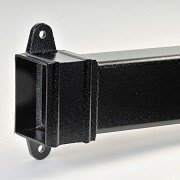 Aluminium Rectangular Downpipes Cast Collar