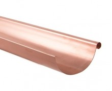 Lindab Natural Copper Gutter & Downpipe