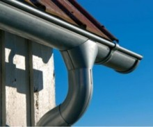 Galvanised Steel Gutter & Downpipe